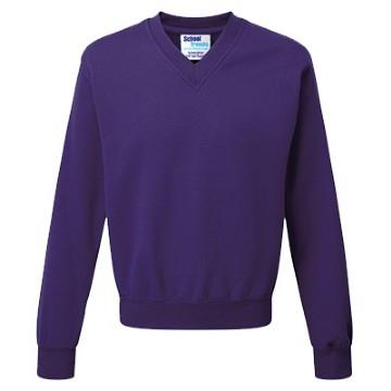 Essential V Neck Sweatshirt Plain