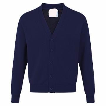 Brockwell Junior Navy Sweatcardigan with Logo