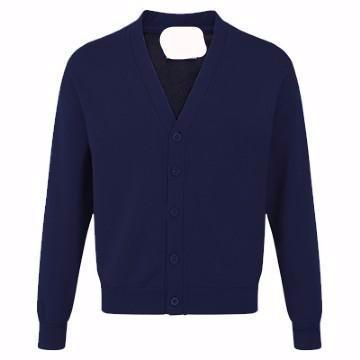 Teversham Classic Navy Sweatcardigan with Logo