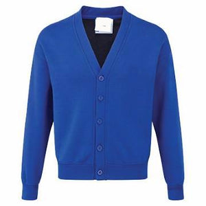 Gilbert Heathcote Royal Acrylic Sweatcardigan with Logo