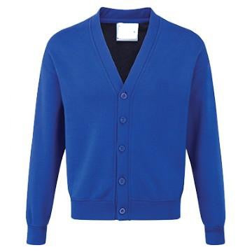 Teversham Pre School Classic Royal Sweatcardigan with Logo
