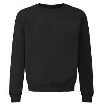 School Order St Werburgh's Acrylic Black Crew Neck Sweatshirt with Logo