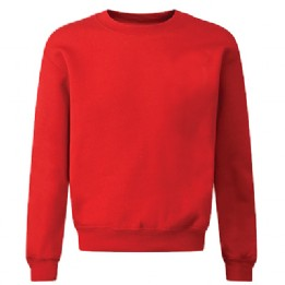 High Green Red Acrylic Crew Neck Sweatshirt with Logo
