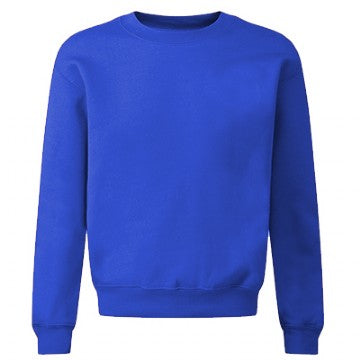 Gilbert Heathcote Royal Acrylic Crew Neck Sweatshirt with Logo