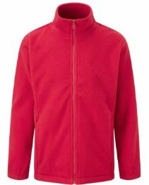 Little Thetford Red Fleece with Logo