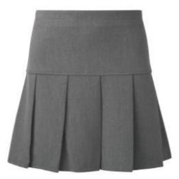 Grey Innovation Pleated Skirt
