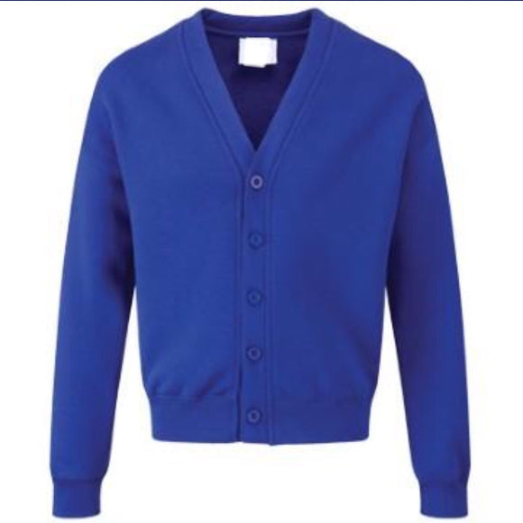 Dobcroft Pre School Royal Classic Sweatcardigan with Logo