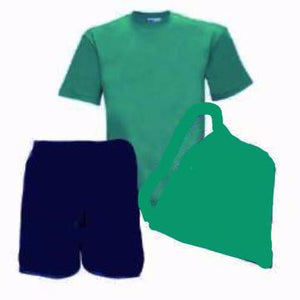 Dobcroft Infant PE Kit (Jade Teeshirt / Navy Shorts / Jade Bag )
