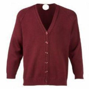 St Joseph's Burgundy Knitted Cardigan with Logo