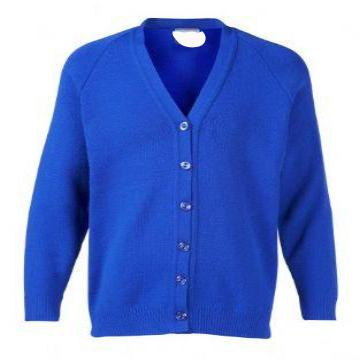 Old Hall Junior Royal Knitted Cardigan with Logo
