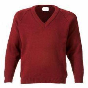 St Joseph's Burgundy Knitted Jumper with Logo