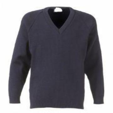 Tiffield Navy Knitted Jumper with Logo