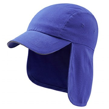 Flore Pre School Legionnaires Cap in Royal with Logo