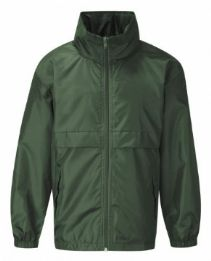 Paulerspury Bottle Green Lightweight Jacket with Logo