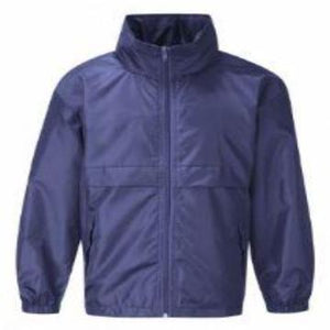 Hollingwood Navy Lightweight Jacket with Logo
