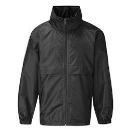 Tiffield Black Lightweight Jacket with Logo
