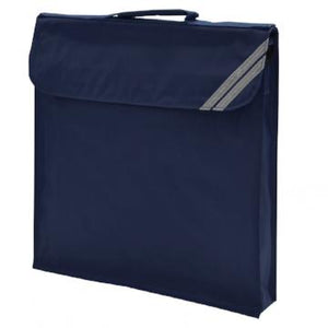 Teversham Navy Expandable Book Bag with Logo
