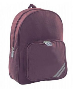 Dunston Burgundy Primary Backpack with Logo