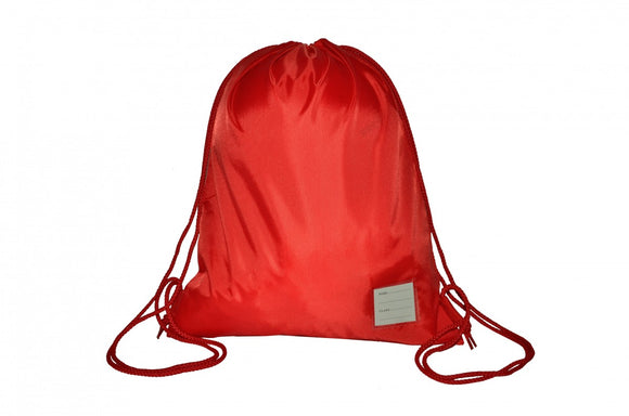 Bottisham Primary Red PE Bag with Logo