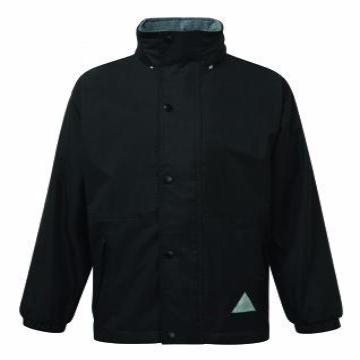 Tiffield Black Storm Dry Jacket with Logo