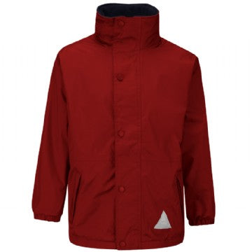 St Giles Red Storm Dry Jacket with Logo