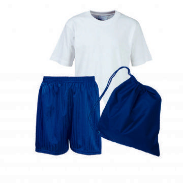Gilbert Heathcote PE Kit comprises of Teeshirt, Shorts and Bag