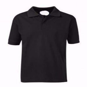 Abingdon & Witney Black Poloshirt with Logo