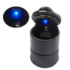 Portable Auto Car Truck LED Cigarette Smoke Ashtray Ash Cylinder Cup Holder Portable Ashtray Lithium Battery Included