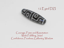 Load image into Gallery viewer, Black Tourmaline with DZI Bracelet - Healing Gemstones