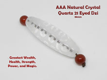 Load image into Gallery viewer, AAA Natural Crystal Quartz DZI Wealth Attraction Bracelet - Healing Gemstones