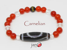 Load image into Gallery viewer, Carnelian with Specialty DZI Bracelet - Healing Gemstones