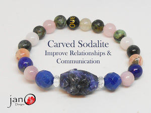 Improve Relationships and Communication w/Carved Sodalite - Custom Made - Healing Gemstones