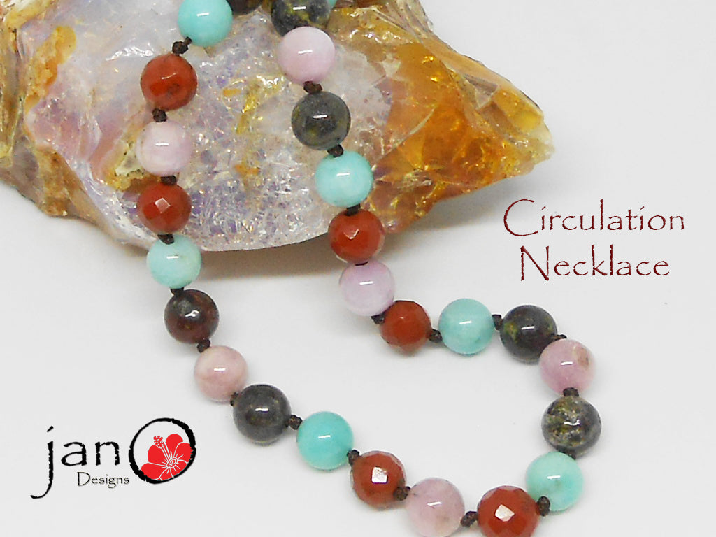 Circulation Necklace - Healing Gemstones