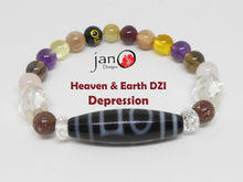 Load image into Gallery viewer, Depression with DZI Bracelet - Healing Gemstones