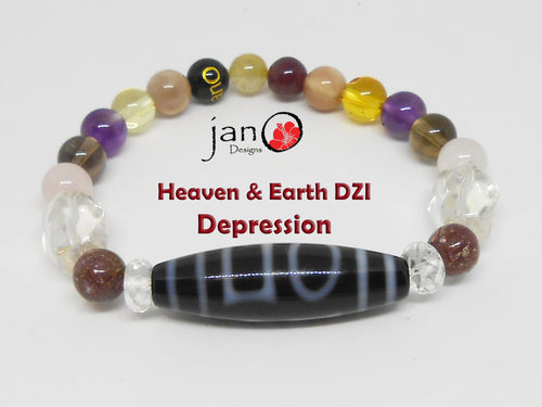 Depression with Specialty DZI Bracelet - Healing Gemstones