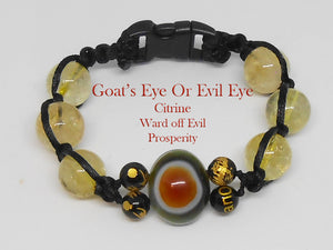 Goat's Eye or Evil Eye - Corded - Custom Made - Healing Gemstones