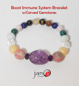 Immune System with Carved Gemstones - Healing Gemstones