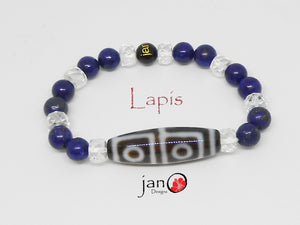 Lapis with Specialty DZI Bracelet - Healing Gemstones