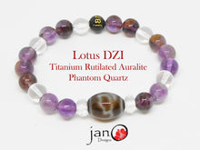 Load image into Gallery viewer, Titanium Rutilated Auralite Phantom Quartz with Specialty DZI - Healing Gemstones