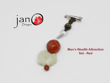 Load image into Gallery viewer, Men's Wealth Attraction Bracelet and Wealth Charm Set - Healing Gemstones