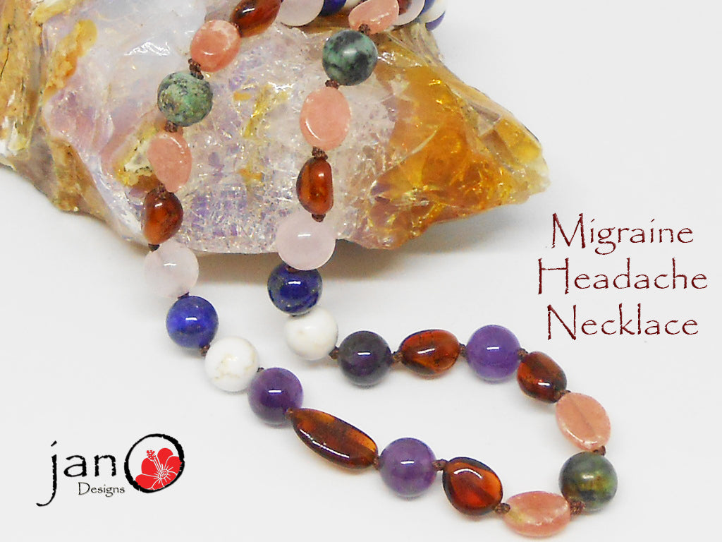 Migraine Headache Necklace - Healing Gemstones