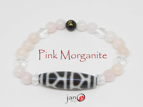 Pink Morganite with Specialty DZI Bracelet - Healing Gemstones
