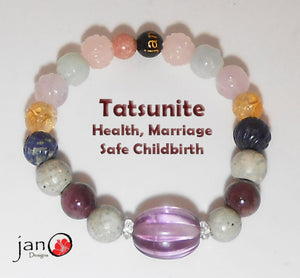 Japan Collection - Tatsunite w/Carved Amethyst - Healing Gemstones
