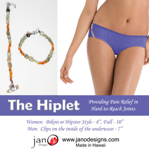 The Hiplet - Amber and Kyanite Pain Relief for Hard-to-Reach Joints - Healing Gemstones