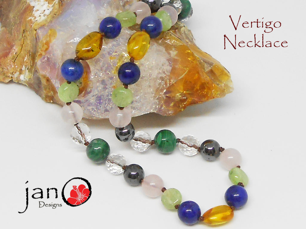 Vertigo Necklace - Healing Gemstones