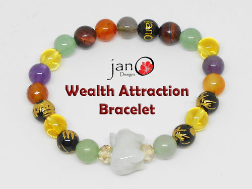 Wealth Attraction Bracelet - Healing Gemstones
