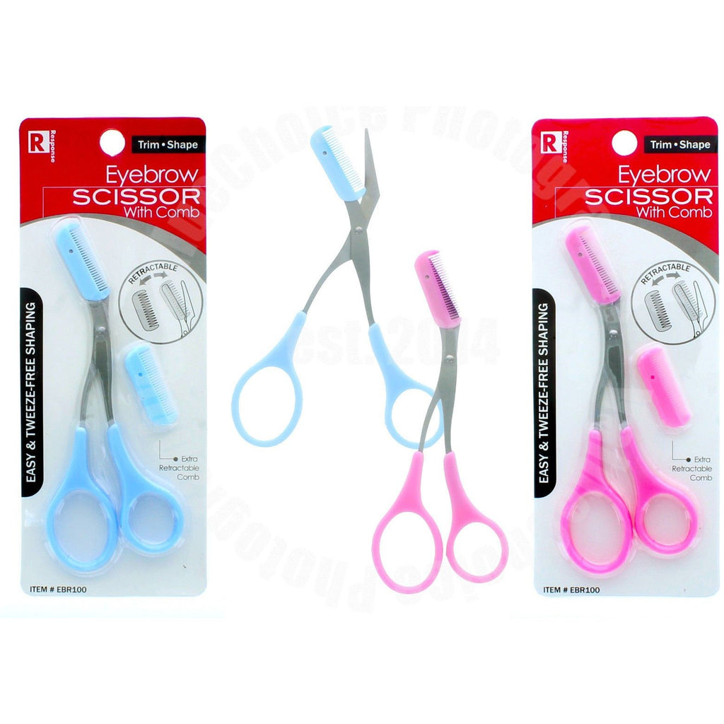 Eyebrow Scissor With Comb To Trim Shape With Extra Retractactable