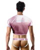 Berry Delicious Crop Top Jersey in Pink - The Well Branded