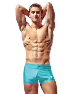 Flamingo Icon Swim Trunk in Aqua - The Well Branded
