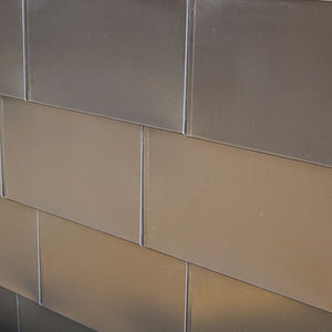 Anodized Aluminum Flat Tile - Medium Bronze